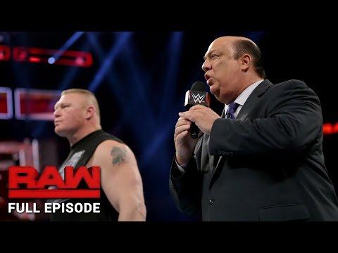 WWE Raw Full Episode, 24 October 2016
