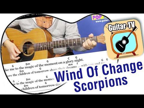 20.2 Wind Of Change - Scorpions, Cover • Lyrics • Chords • Tutorial • Gitarre lernen • play along