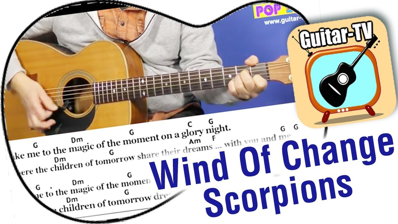 202 Wind Of Change Scorpions Cover Lyrics Chords Tutorial