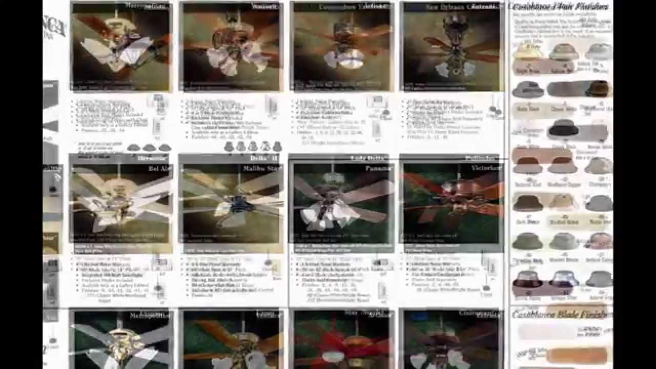 1998 Casablanca Ceiling Fan Catalog Youtube