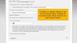 cPanel Tutorial - How to set a default Email Address