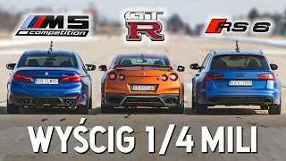 RS6 Buddy vs GT-R vs M5 Competition - Wyścig na 1/4 mili