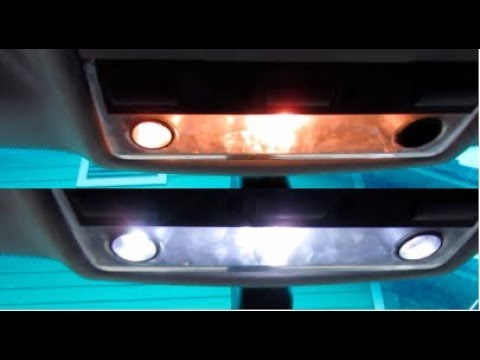 BMW E46 LED interior light upgrade - YouTube