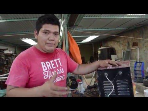 Aprende a soldar con electrodo || Como conectar una maquina de soldar a 110v