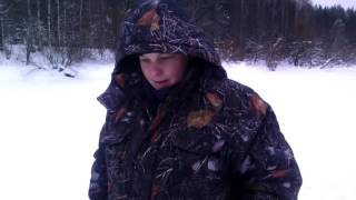 Зимняя рыбалка в глухозимье! Река. Б . визинга. Январь 2017!