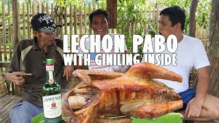 LECHON PABO WITH GINILING NA BABOY INSIDE