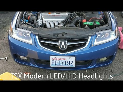 Acura TSX AKKON LED/HID Headlights, Review and Install!