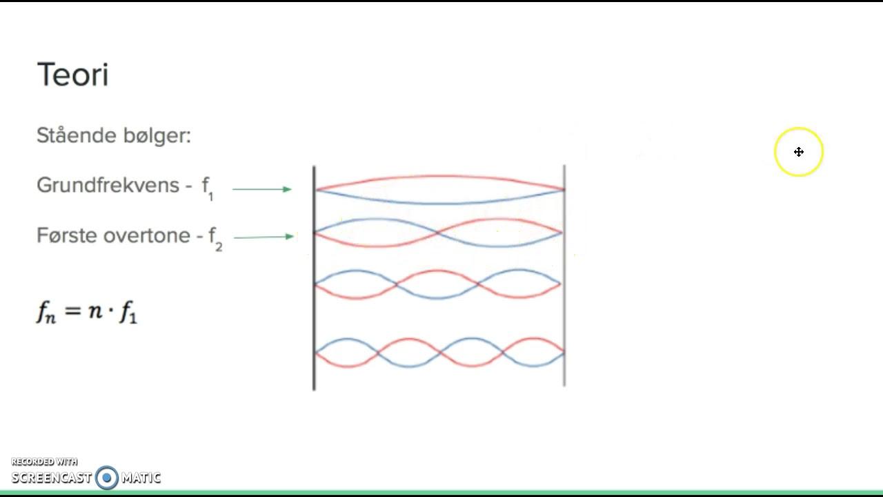 Mundtlig fysikaflevering: Stående bølger på en streng