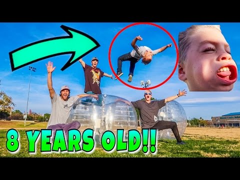 ZORB VS 8 YEAR OLD KID!!!! (Rocco Piazza)