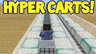Minecraft (Xbox360/PS3) - HYPER CARTS MOD! - Showcase!