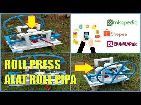 Alat Roll Pipa Besi dan Stenlis Manual