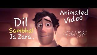 Dil Sambhal Ja Zara | Unplugged Cover | Rahul Batra | Animated | Murder 2 | Arijit Singh