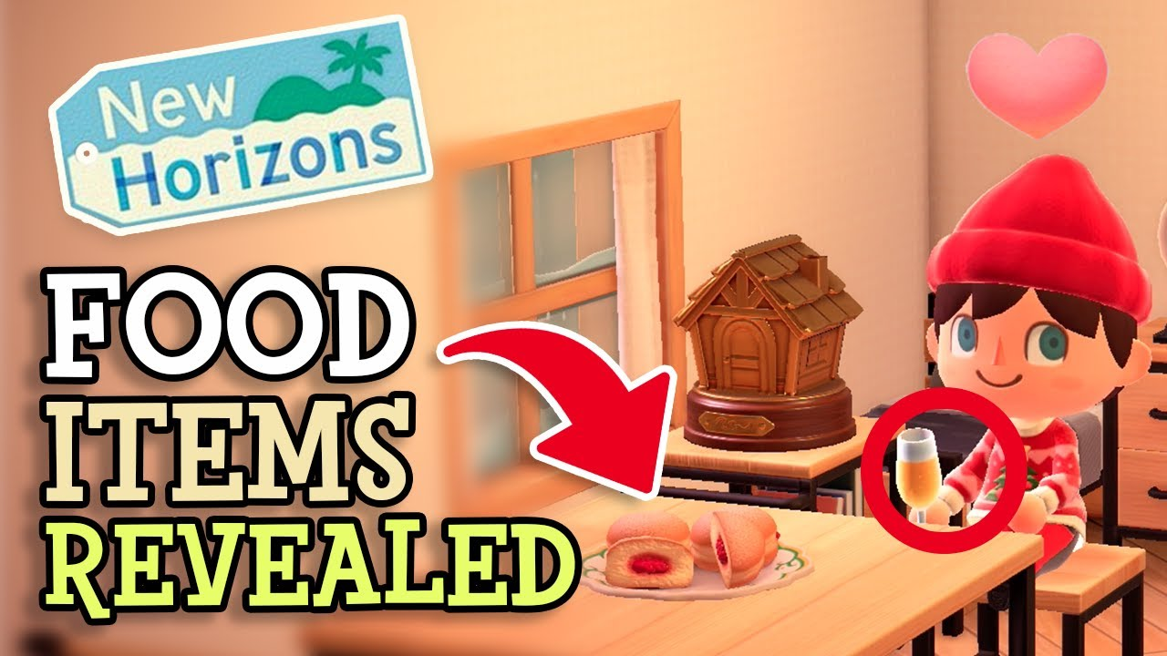 Animal Crossing New Horizons: EXCLUSIVE FOOD ITEMS REVEALED (Pre New Years Event Items) Full Details