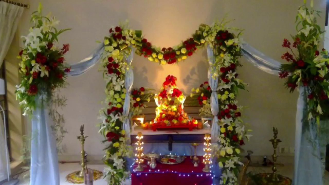 ... Eco Friendly Ganpati Decoration Ideas For Home 2018 | 26 Designs | Best  Decor For Ganpati
