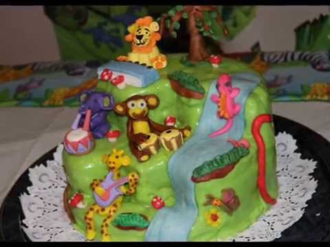 Jungle theme cake YouTube