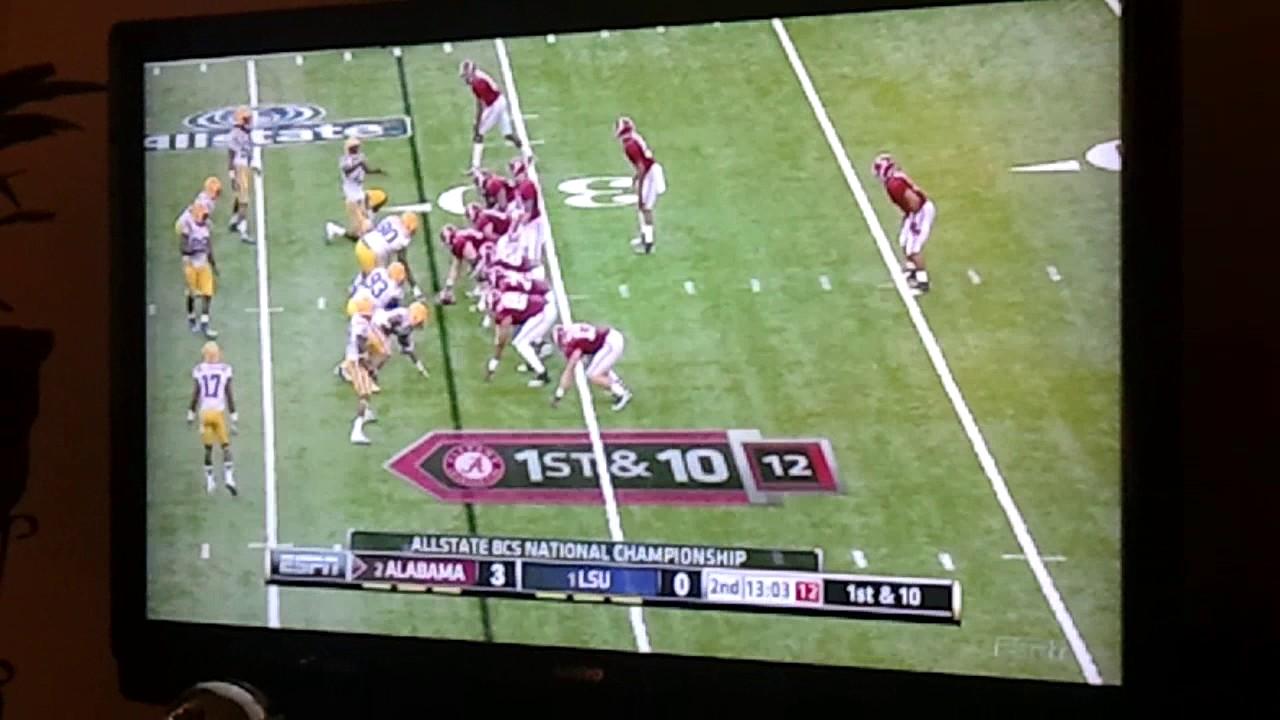 Baker (LSU) Big Hit v. Alabama National Championship Game ...