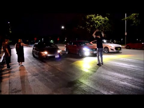 2013 Civic SI vs 08 Civic SI vs 2013 Genesis turbo ( 3 way race )