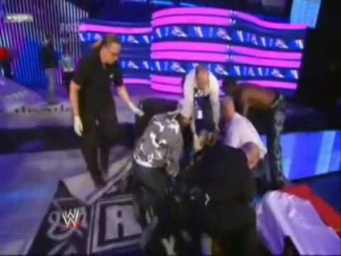 Jeff Hardy Accident Fireworks Smackdown 16/01/09