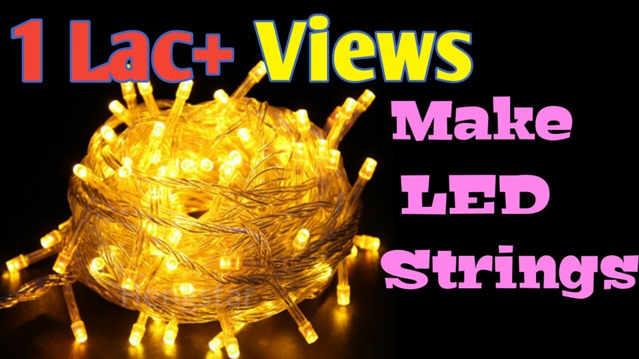small resolution of how to make led rice serial string light diy decorative light for christmas newyear diwali