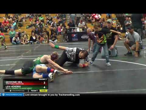 True Beginner Middle School 91-99 Geovonie Neil Team Pueblo Wrestling Vs Levi Hendrix Falcon Domin