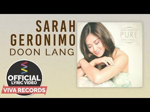 Sarah Geronimo — Doon Lang [Official Lyric Video]