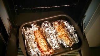 Скумбрия в духовке запеченная в фольге Рецепт приготовления блюда из рыбы на ужин быстро вкусно(Рецепт Скумбрия в духовке запеченная в фольге. Блюда из рыбы - Фаршированная вкусная скумбрия запеченная..., 2015-03-18T13:48:26.000Z)
