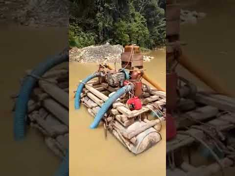 Alluvial gold mining in West Aceh, Indonesia