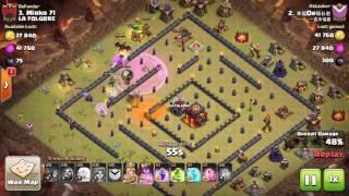Clash of Clans, Valkyrie attack, TH10 100%, 3 Stars, attack 132