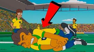 Neymar Rolling   Neymar Dive   Neymar Funny Acting in Football   Simpsons Prediction