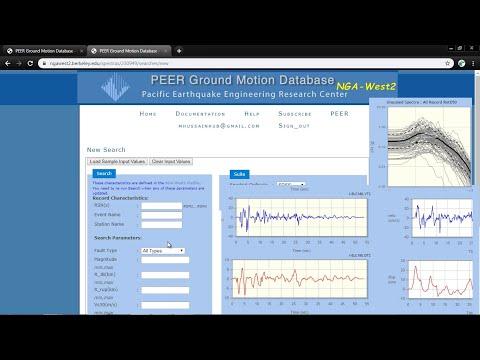 CSI ETABS - 20 - Download Earthquake records from PEER Ground Motion Database (ngawest2 berkeley)