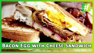 Baked Eggs with Cheese Sandwich and Bacon by Sneha Dutta  #fame Food  Healthy Food Recipe