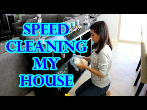 SPEED CLEANING MY HOUSE   POWER HOUR