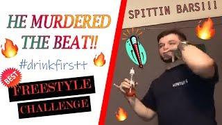 He MURDERED This Beat!!! - Drinkfirstt BEST Freestyle Challenge (pt. 1)