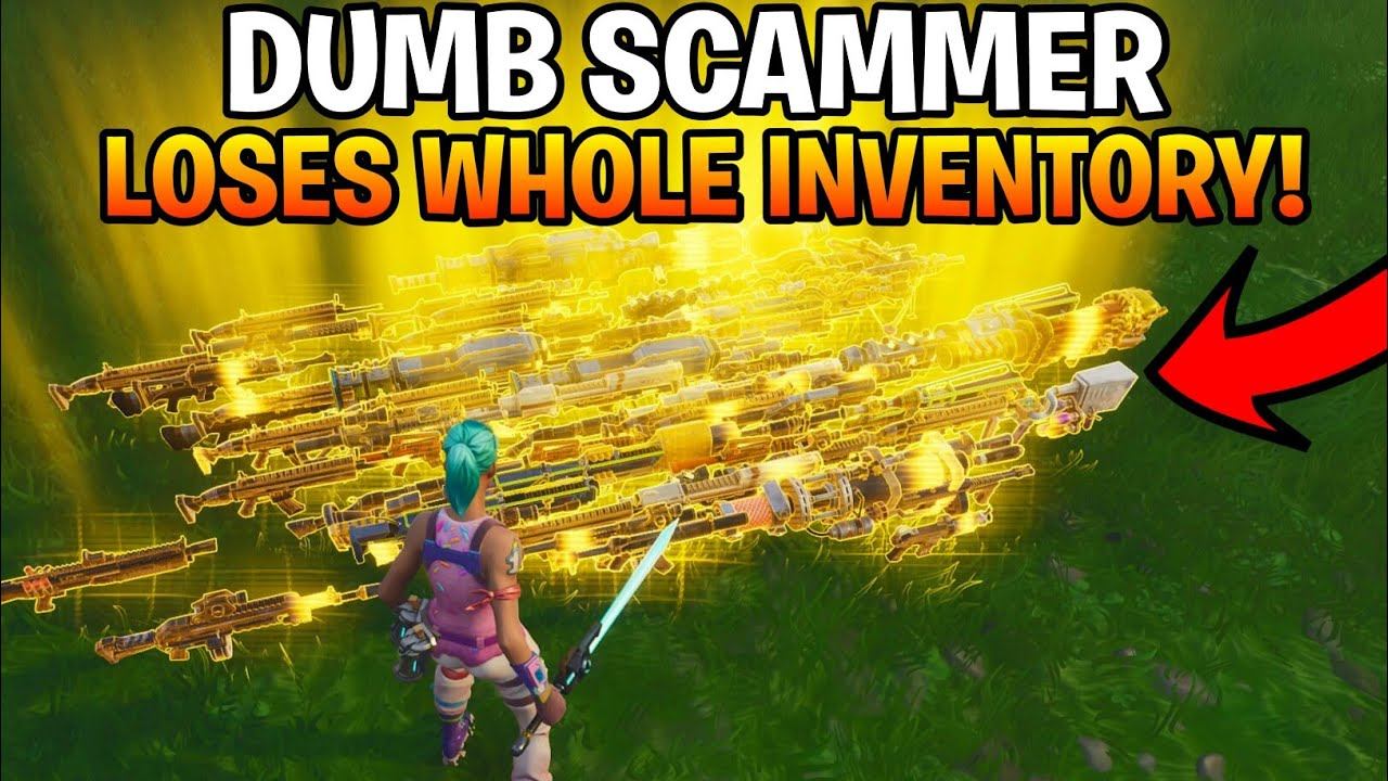 Dumb Scammer Gets Scammed For Whole Inventory!(Fortnite Save The World)
