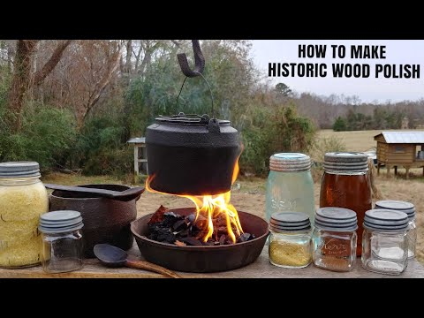 HOW TO MAKE HISTORIC BEESWAX, CARNAUBA WAX, LINSEED OIL AND TURPENTINE FURNITURE AND WOOD POLISH