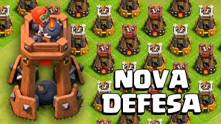 NOVA DEFESA: TORRE DE BOMBAS!! ATUALIZAÇÃO CLASH OF CLANS !! APELONA!!
