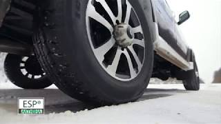Обновленный УАЗ Патриот: противобуксовочная система TCS на скользком покрытии