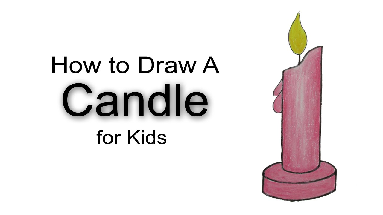 How to draw a candle for kids youtube for How to make candle sticks