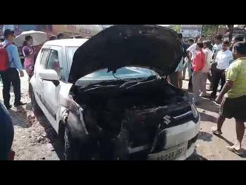 Moran fire in a Car