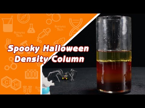 Spooky Halloween Density Column - Halloween Science