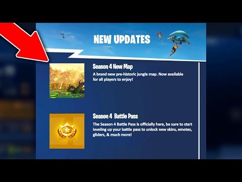 """NEW """"Jinxed Jungles Map"""" Coming In Season 4 After Meteor Destroys Tilted Towers! (Season 4 New Map)"""