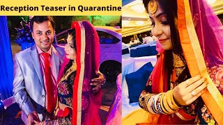 Watching Reception Teaser in Quarantine | Indian YouTuber in Apna America | Couple Goals | Wedding