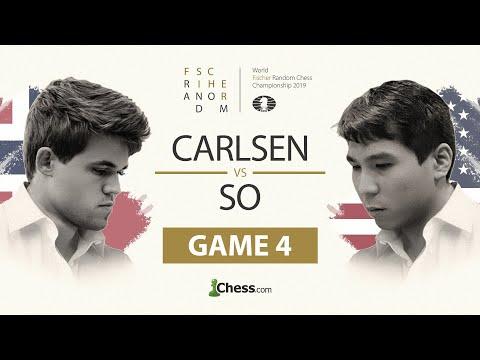 Wesley So vs. Magnus Carlsen: Fischer Random Chess Championship 2019: Game 4