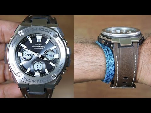 22d8bb417 Casio G-Shock G-STEEL GST-S130L-1A TOUGH LEATHER BAND - UNBOXING ...