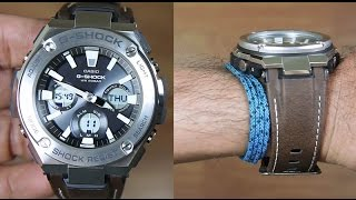 Casio G-Shock G-STEEL GST-S130L-1A TOUGH LEATHER BAND - UNBOXING
