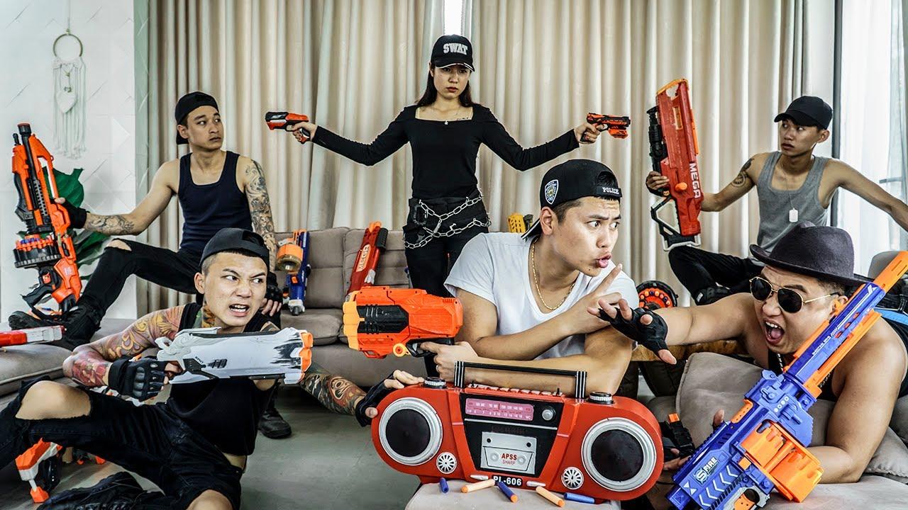LTT Nerf War : Captain SEAL X Warriors Nerf Guns Fight Dr Ken Crazy Bandits Radio in VILLA
