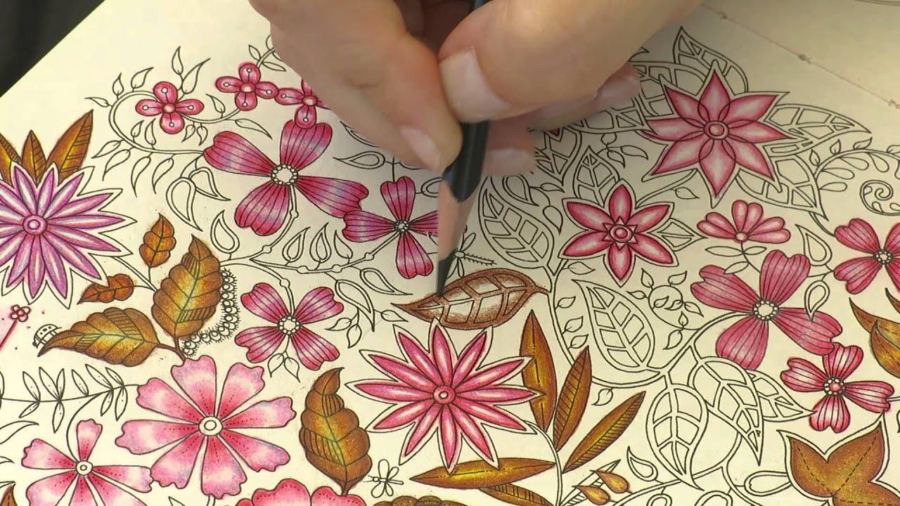 ideias para pintar livro jardim secreto : ideias para pintar livro jardim secreto:Livros de Colorir – Colorindo Jardim Secreto – Como pintar folhas de