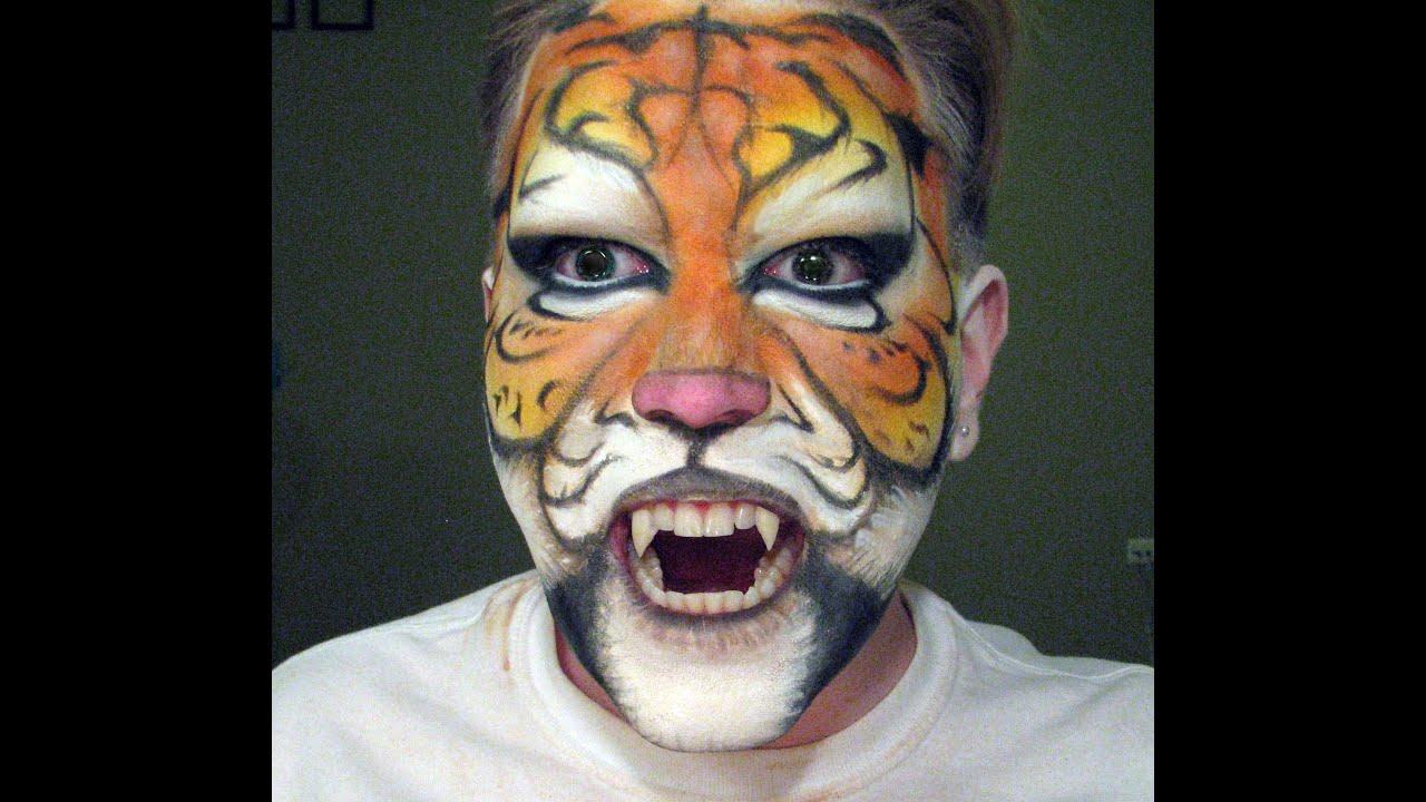 Makeup Tutorial | Tiger Face Paint - YouTube
