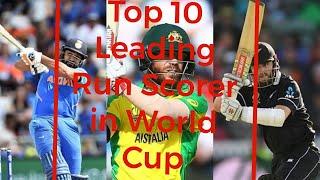 Top 10 Leading Run Scorer of Cricket World Cup 2019
