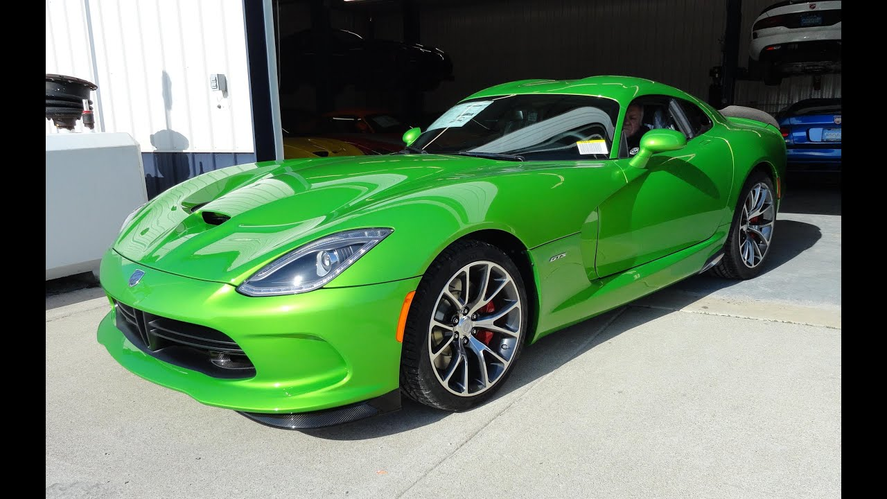 2014 Dodge Srt Viper Gts Coupe In Stryker Green My Car